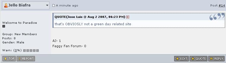 Trolling Green Day Community