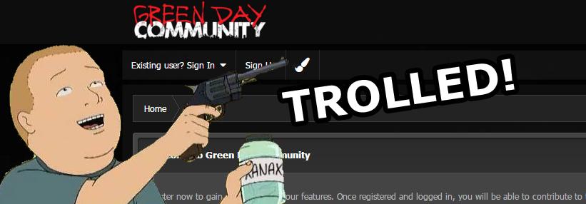Trolled: Green Day Community