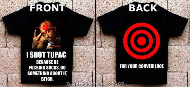 """I Shot Tupac"" shirt, available now at Target."