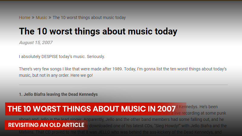 The 10 worst things about music in 2007
