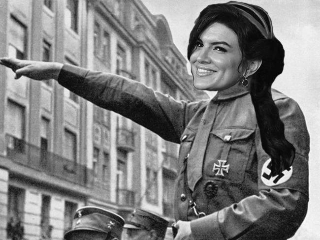Gina Carano is literally Hitler!